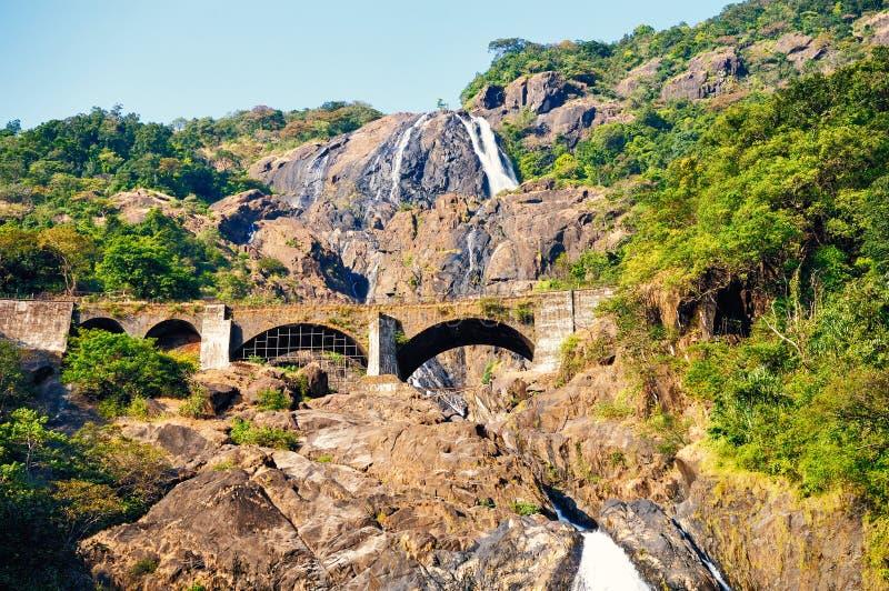 Водопад, Goa, Индия стоковое фото rf