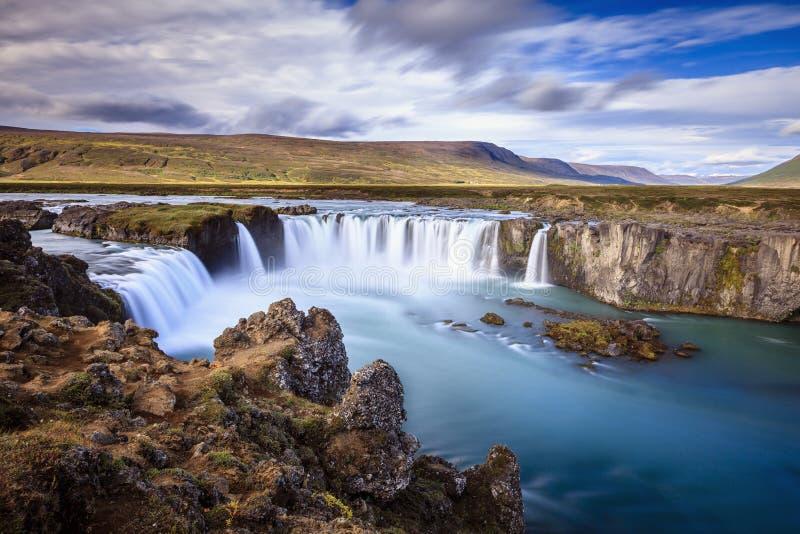 Водопад Godafoss стоковые фотографии rf