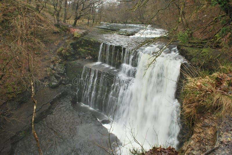 Водопад Gwaun Hepste стоковое изображение rf