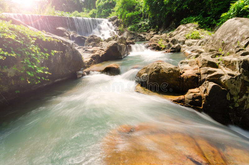 водопад Ka-ang стоковая фотография