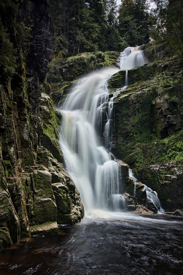 Водопад Kamienczyk стоковая фотография rf
