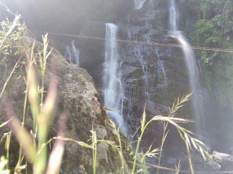 Водопад Kanchanjongha стоковые фотографии rf