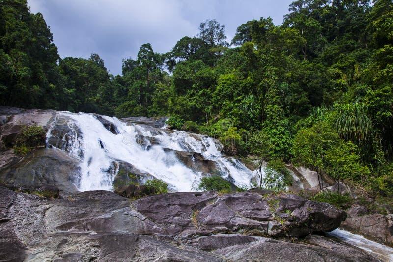 Водопад Karom одна из привлекательностей thammara Nakhon SI стоковая фотография rf