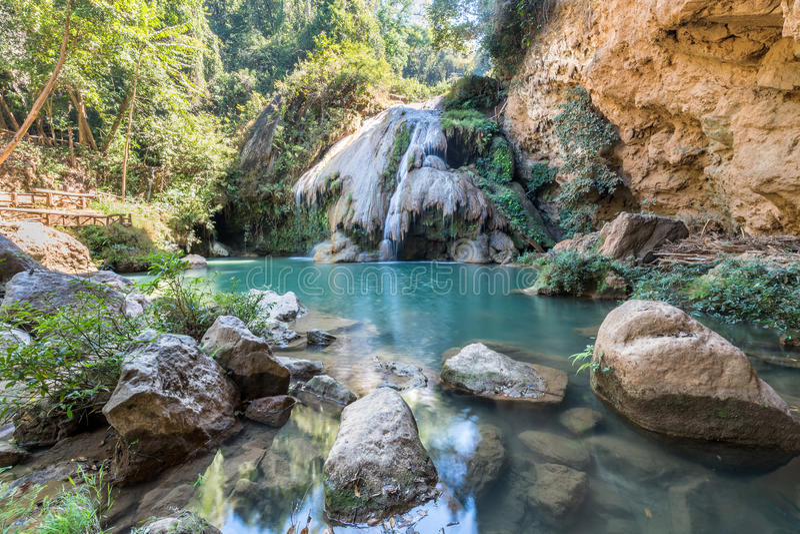Водопад Kor Luang в Lamphun Таиланде стоковое фото