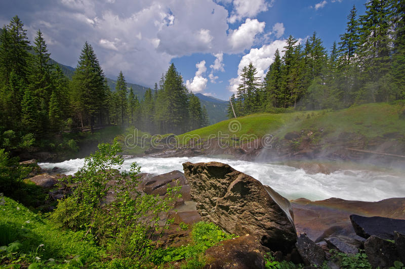Водопад Krimmler (Krimml) стоковые изображения rf