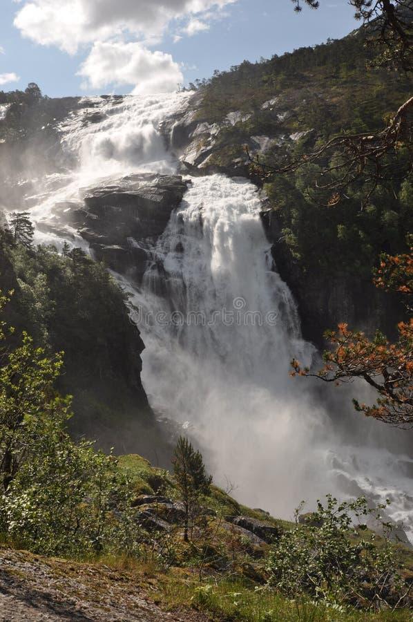 Водопад Nyastolfossen стоковое фото