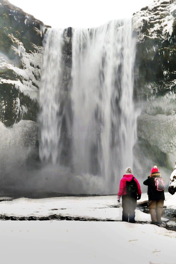Водопад Seljalandfoss стоковые изображения
