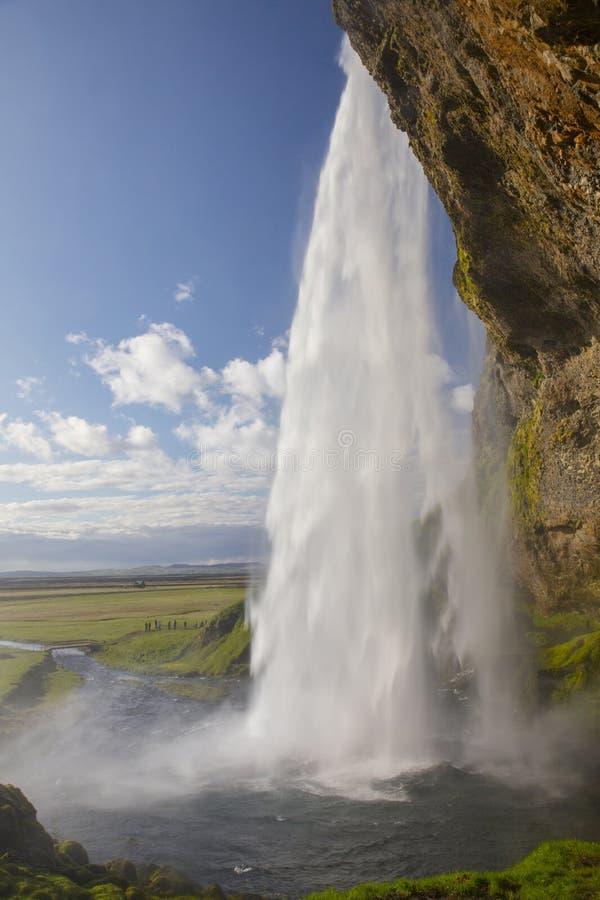 Водопад Seljalandsfoss стоковое изображение rf