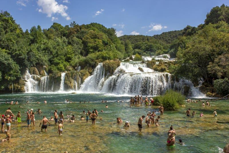 водопад skradinski национального парка krka Хорватии buk стоковое изображение