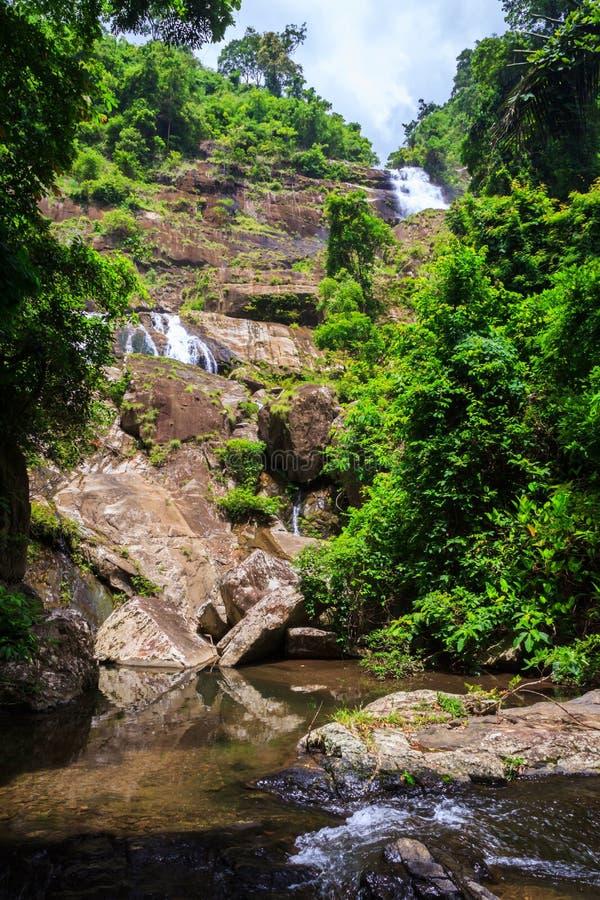 водопад soidao khao стоковая фотография
