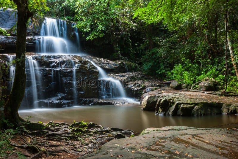 Водопад Sri Da угрызения, Srakaew стоковые фотографии rf