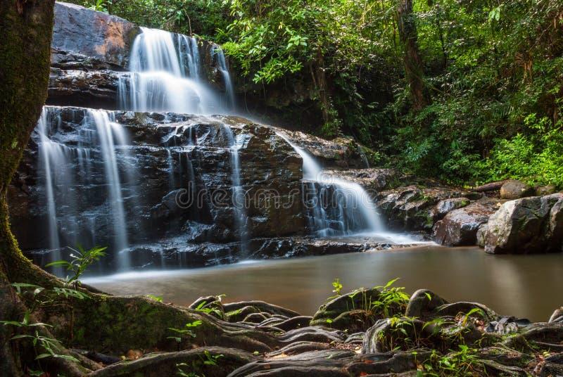 Водопад Sri Da угрызения, Srakaew стоковая фотография