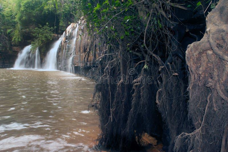Водопад Sri Dit в национальном парке Tungsalanglung, Таиланде стоковое фото