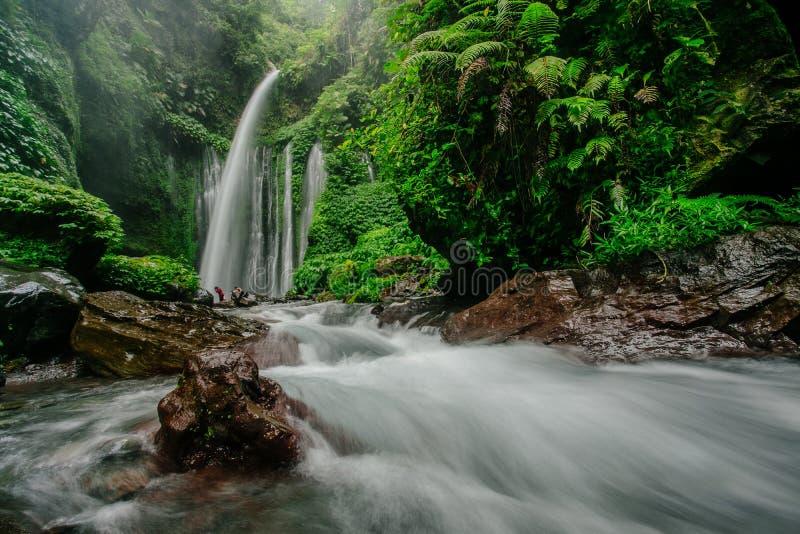Водопад Tiu Kelep стоковые изображения