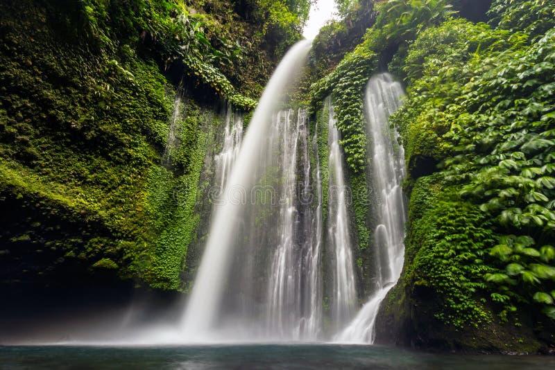Водопад Tiu Kelep стоковая фотография rf