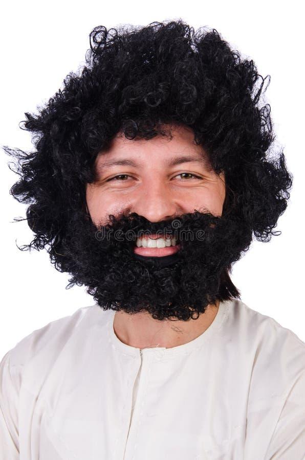 Волосатый смешной человек стоковая фотография rf