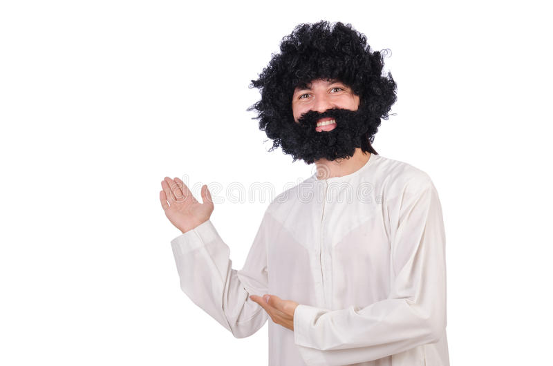 Волосатый смешной человек стоковое изображение rf