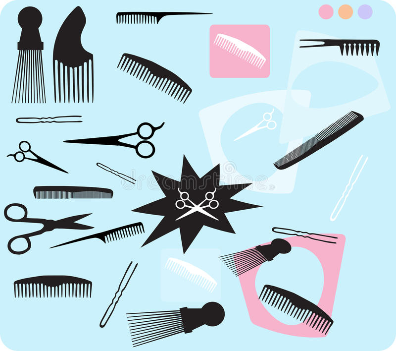 Волосы расчесывают ножницы бесплатная иллюстрация