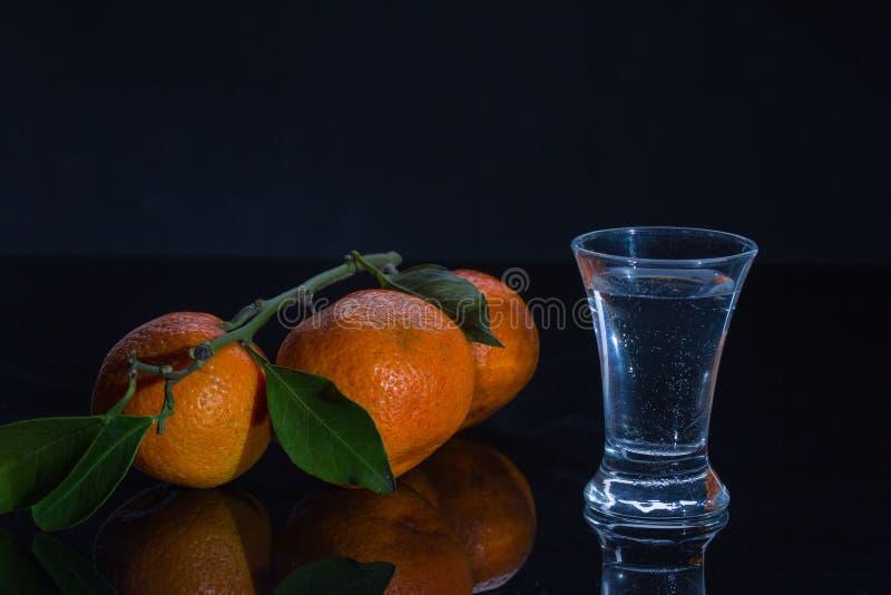 Download Водочка и tangerines стоковое изображение. изображение насчитывающей померанцово - 81814231