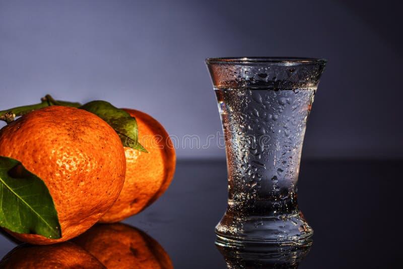 Download Водочка и tangerines стоковое фото. изображение насчитывающей backhoe - 81814242