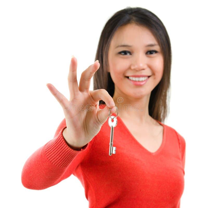 Во первых имейте ключ дома стоковое изображение