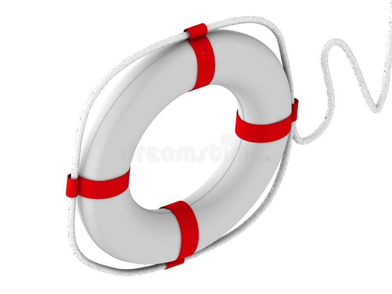 во первых спасательный жилет помощи иллюстрация вектора