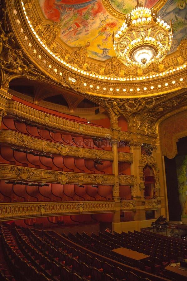 Волшебная и сногсшибательная опера Garnier с затейливыми дизайнами стоковые фото