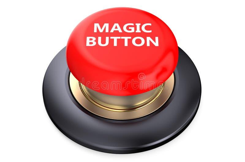 Волшебная красная кнопка бесплатная иллюстрация