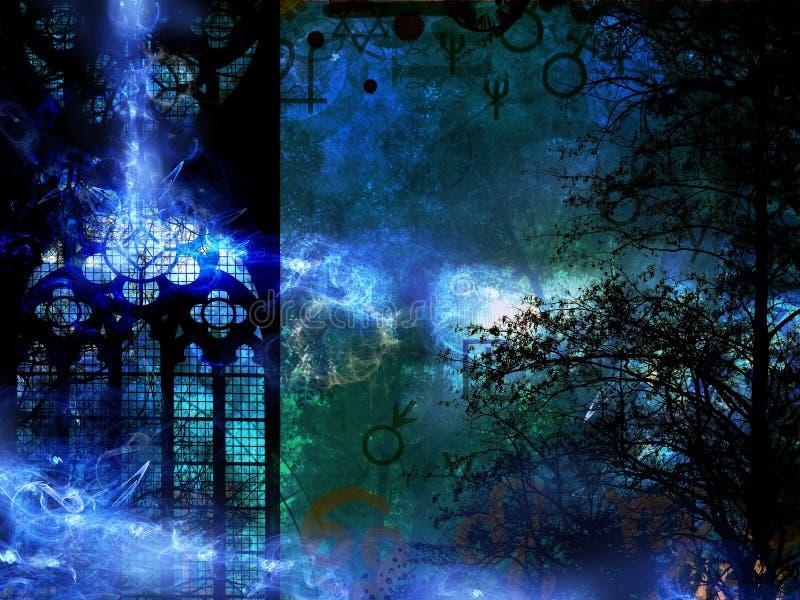Волшебная предпосылка машины времени тайны иллюстрация штока