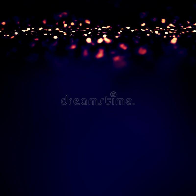 Волшебная предпосылка ночи с светами мерцания Bokeh стоковые изображения rf