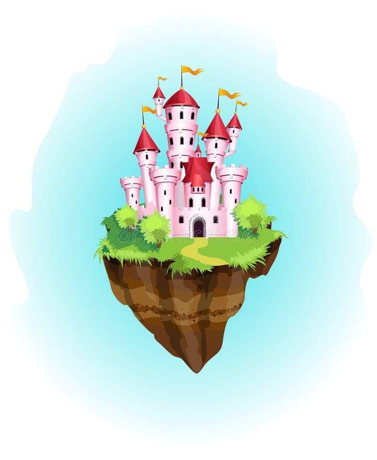 Волшебная принцесса замок бесплатная иллюстрация