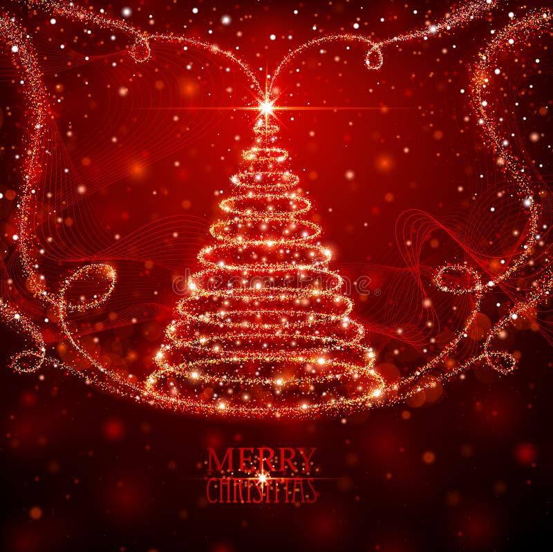 Волшебная рождественская елка иллюстрация вектора