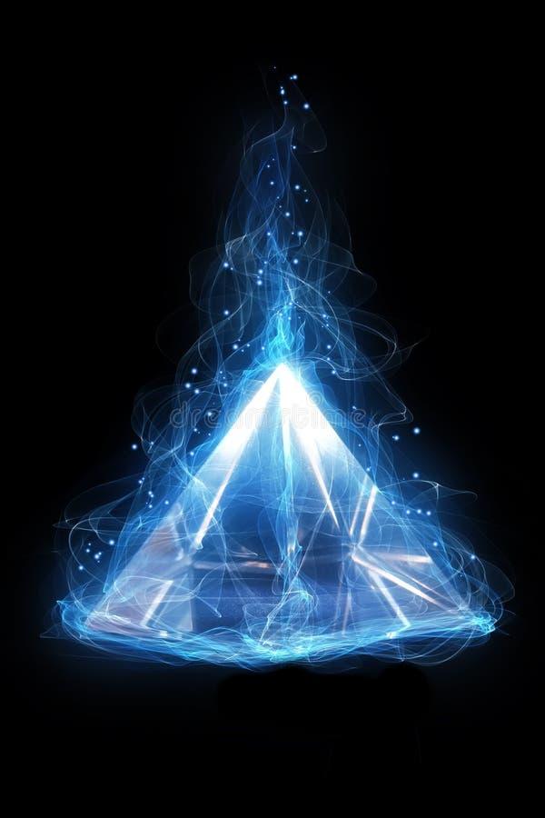 Волшебная стеклянная пирамида иллюстрация вектора