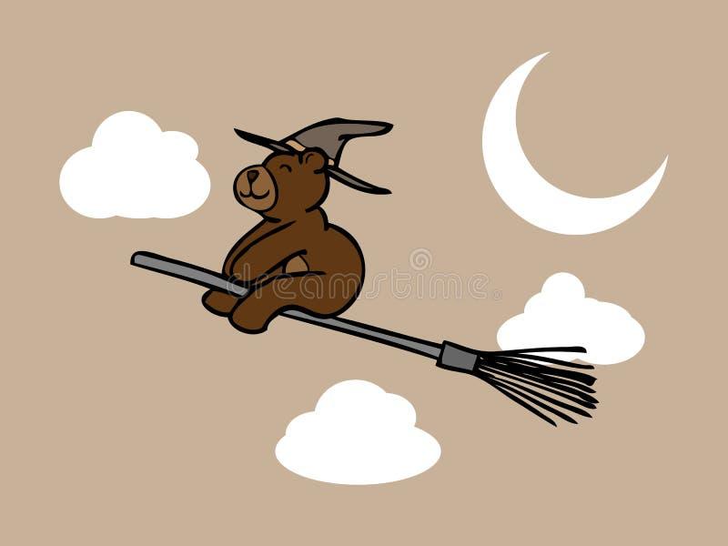 Download Волшебник бурого медведя в ночном небе Иллюстрация вектора - иллюстрации насчитывающей изображение, чертеж: 40590912