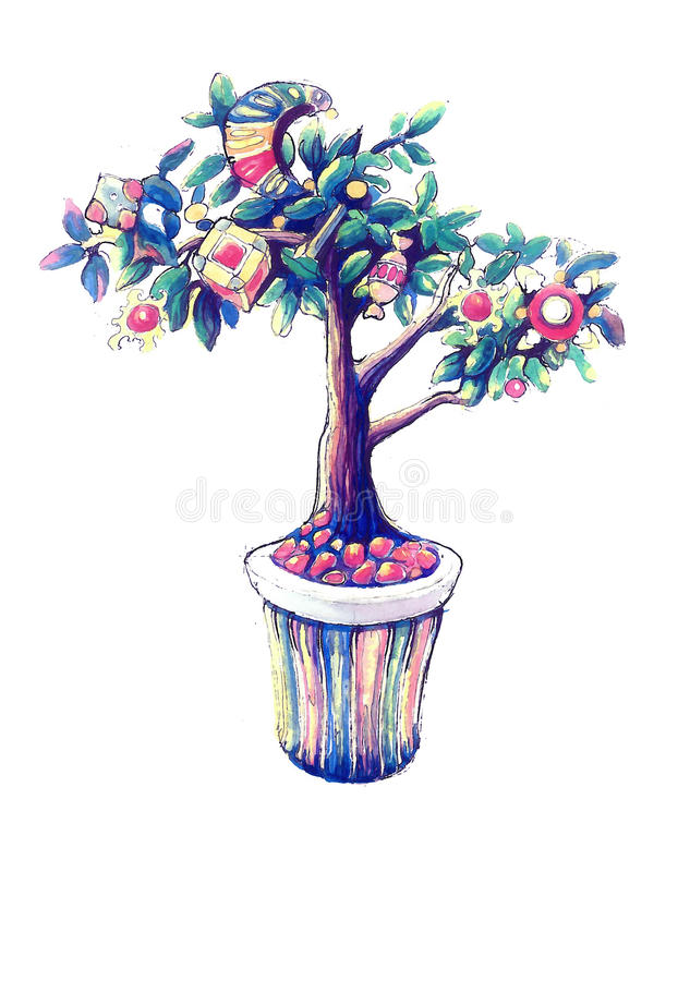 Волшебное дерево стоковое фото rf