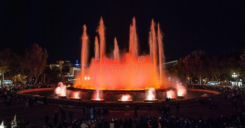 Волшебные света фонтана стоковые изображения rf