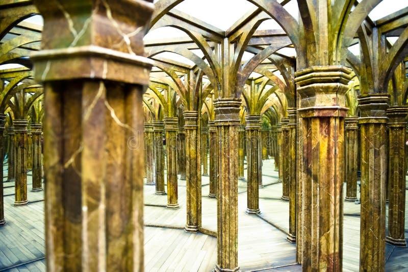 Волшебный лабиринт зеркала стоковая фотография rf