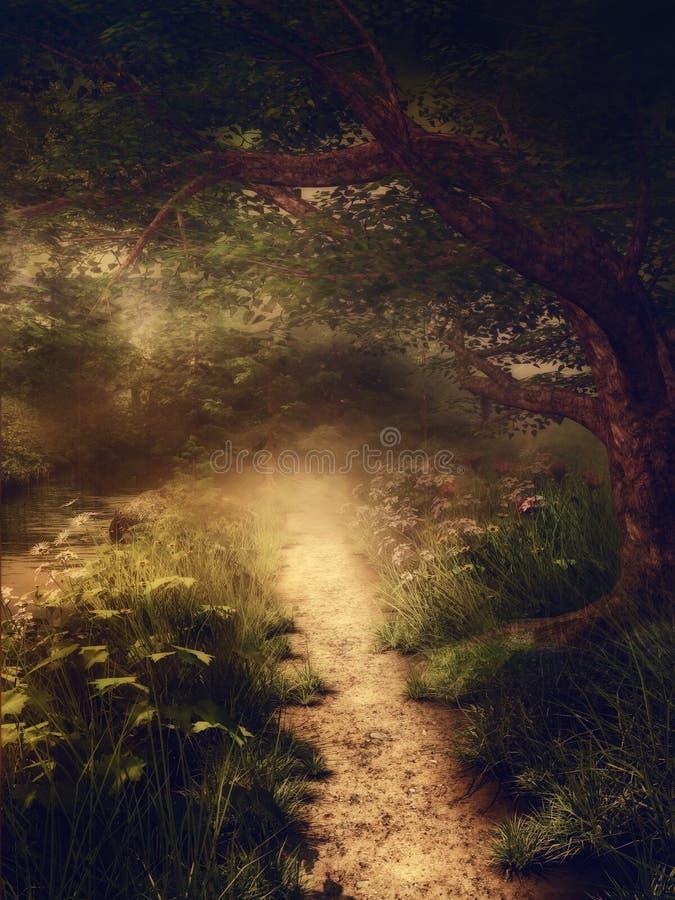 Волшебный лес иллюстрация штока