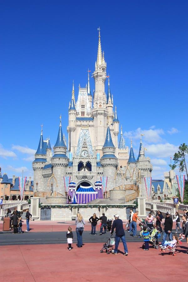 Волшебный замок королевства в мире Дисней в Орландо стоковые фото