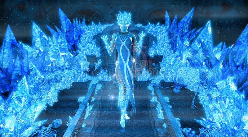 Волшебный ферзь льда иллюстрация штока