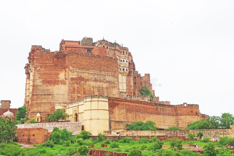 Волшебный форт Mehrangarh, Джодхпур, Раджастхан, Индия стоковое изображение rf