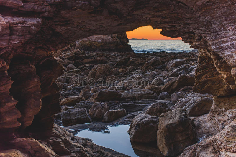 Волшебный час в пляже Laguna стоковая фотография rf