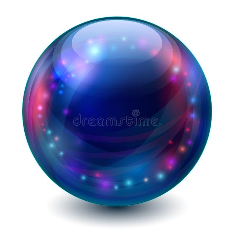Волшебный шарик иллюстрация штока
