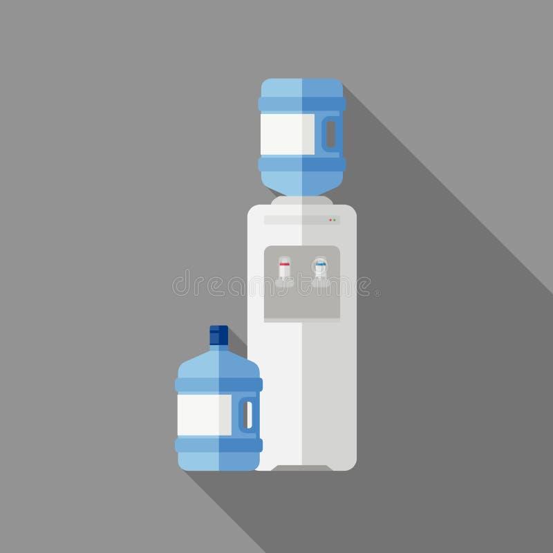 Водяное охлаждение с бутылкой бесплатная иллюстрация
