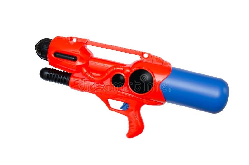 Водяной пистолет на белизне стоковая фотография rf