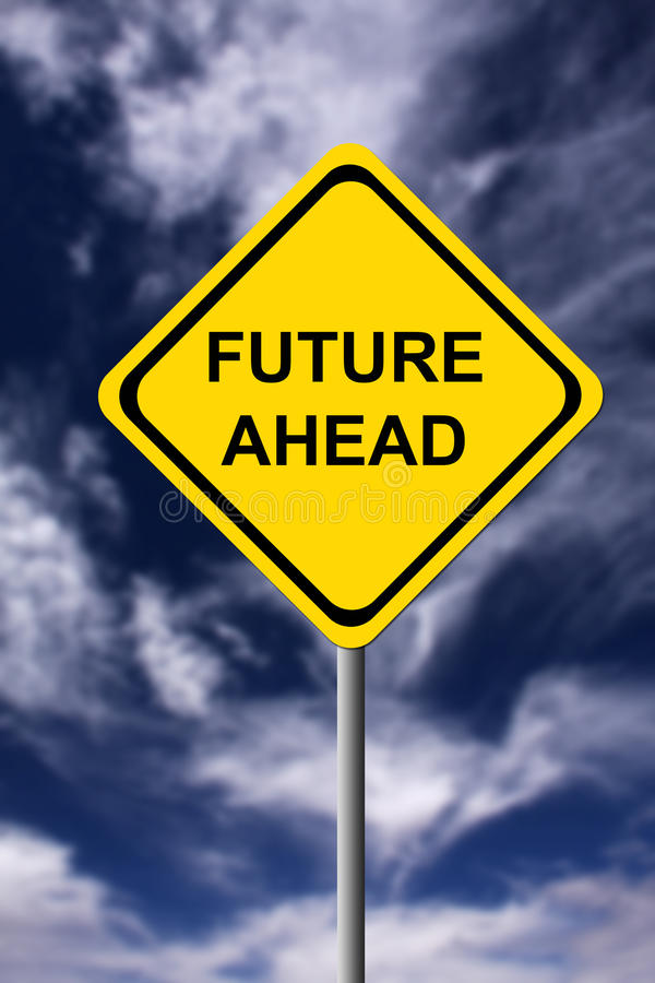 вперед будущее иллюстрация вектора