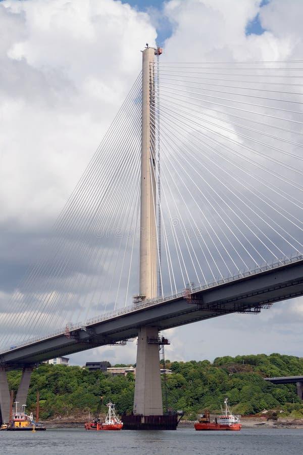 Вперед мост дороги, лиман вперед, Шотландия стоковое изображение