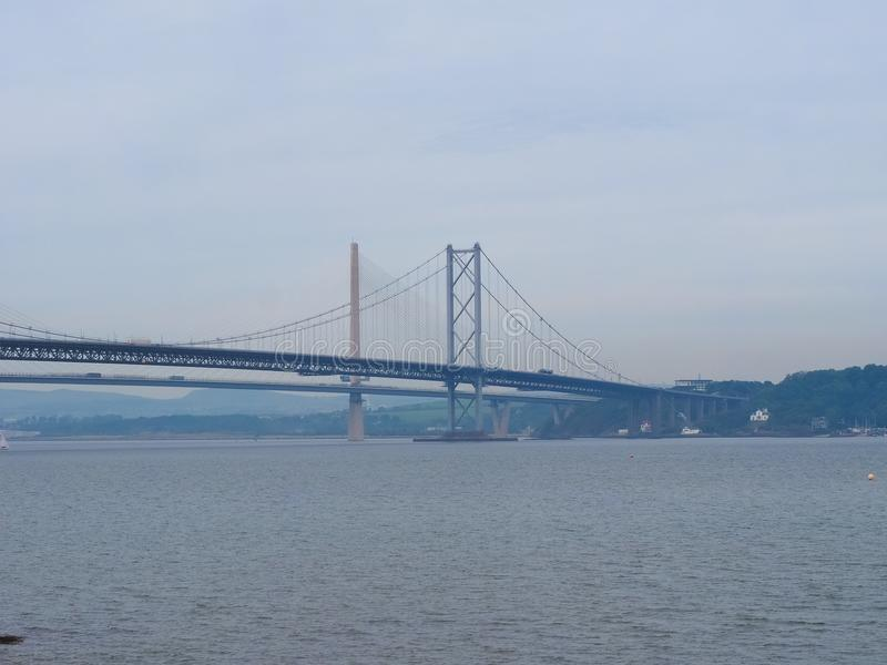 Вперед мост дороги над лиманом вперед внутри Эдинбурга стоковое изображение