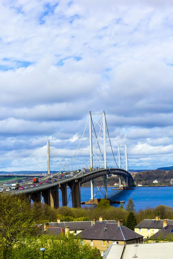 Вперед мост дороги, Эдинбург, Шотландия, Великобритания стоковые фотографии rf