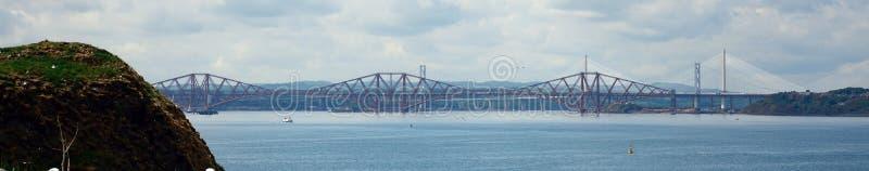 Вперед мост, остров Inchcolm, Шотландия стоковое фото